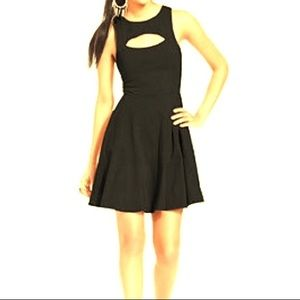 Bar III Little Black Dress Cut Out on Front Large